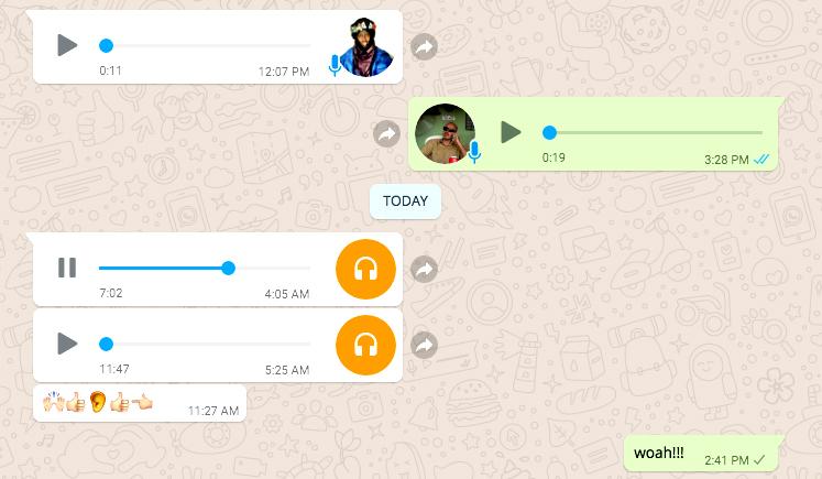 Takamba WhatsApp on March 28th, 2018
